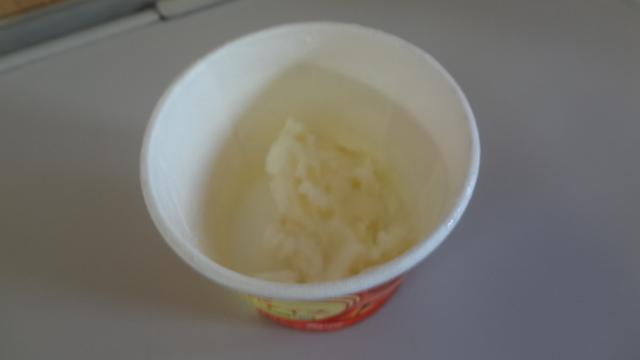 リンゴのアイスクリーム