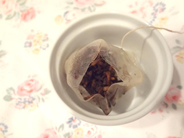 あじかんの「焙煎ごぼう茶」の茶がら